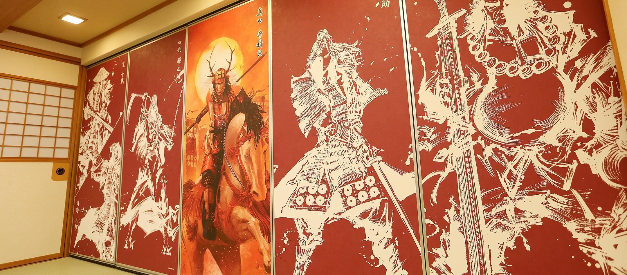 真田武将の襖絵の画像