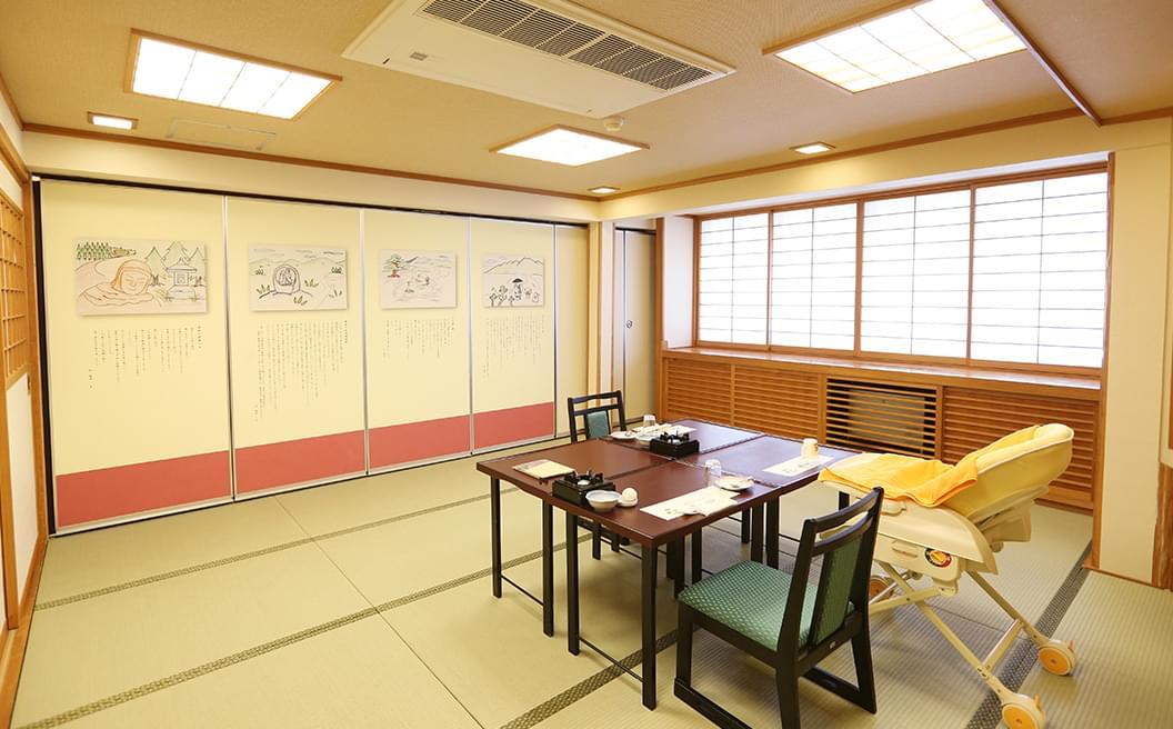 上田の昔話紙芝居の小宴会場の画像