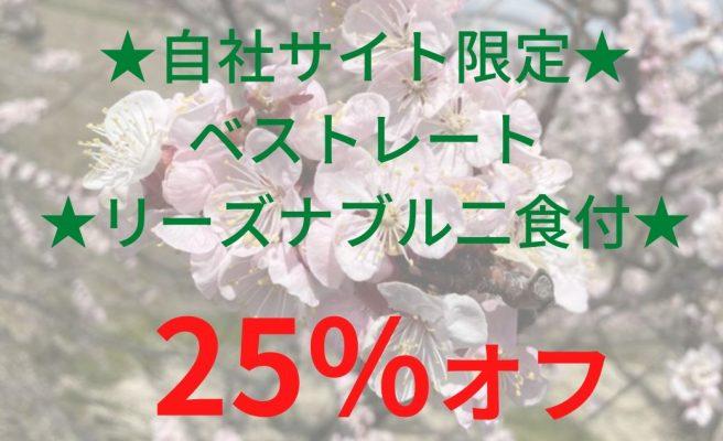 【スプリングセール☆2】★自社サイト限定★ベストレート★リーズナブル二食付★【25%OFF】画像